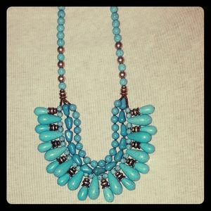 Chicos Turquoise statement necklace